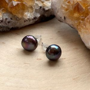 SALE! Cute Genuine Pearl Studd Earrings